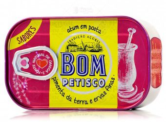 Bom Petisco Canned Solid Tuna in Vegetable Oil with Bell Pepper & Fine Herbs