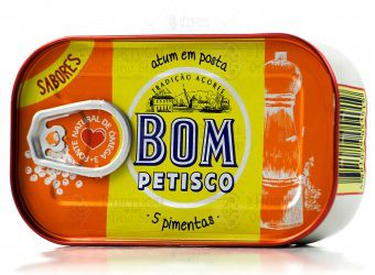 Bom Petisco Canned Solid Tuna in Vegetable Oil & 5 Peppers